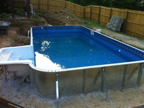 inground pool kits above ground pools swimming pools swimming pool kits installation tips from pool warehouse