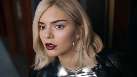 car commercial girl short blond hair kendall jenner goes platinum blonde starring in new pepsi