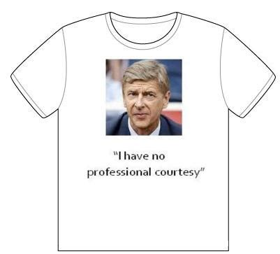 Tshirt Arsene Wenger quote of the day t shirt from arsene wenger