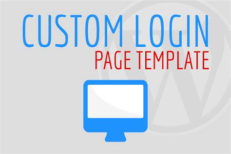 custom page template custom login page template featured frosty media