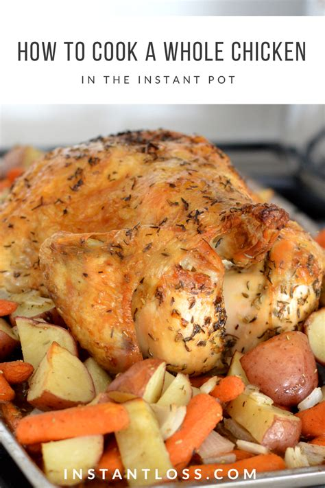 how to cook a whole chicken in the instant pot instant