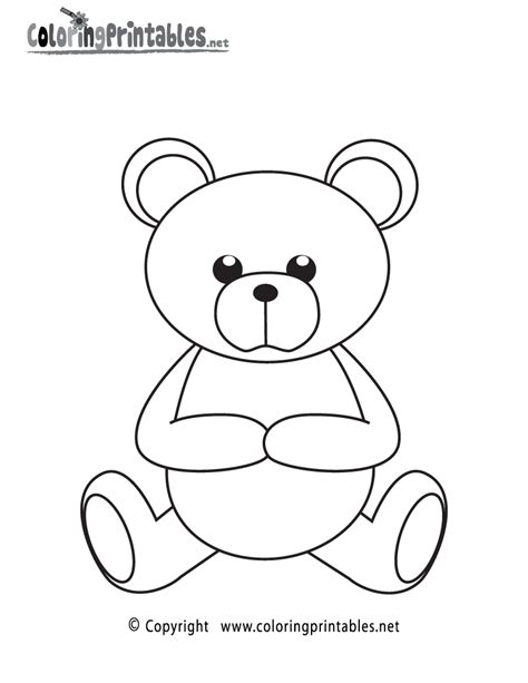 free printable teddy bear coloring page