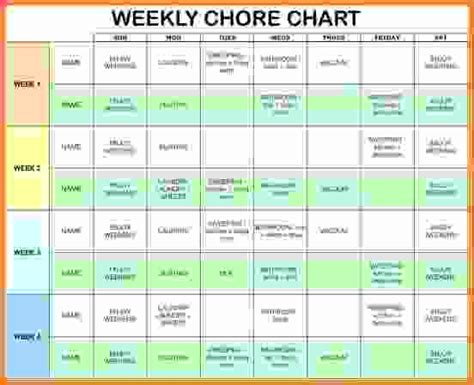 household chore chart template pacq co