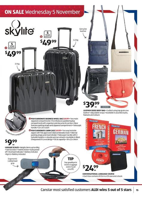 Skylite Cabin Luggage by Aldi Catalogue November Deals Page 15