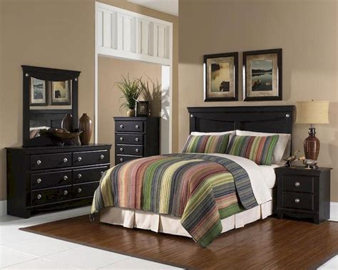 Standard Bedroom Furniture Standard Furniture Panel Bedroom Set Carlsbad St 50403set