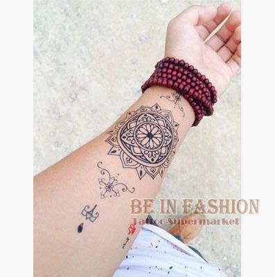 henna tattoo scar 1piece waterproof temporary stickers big