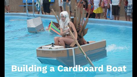 how to make a paper boat no tape building a boat hull using cardboard and duct tape youtube