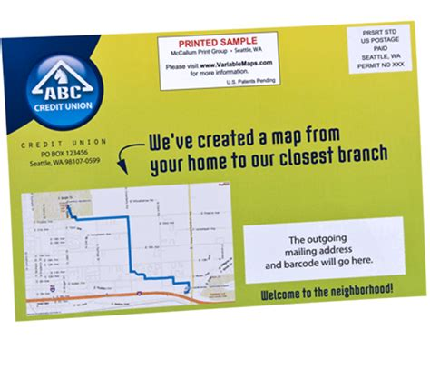 Direct Mail Postcards With Personalized Maps Postcard Templates Printing New Mover Postcards Self Mailer Postcard Template