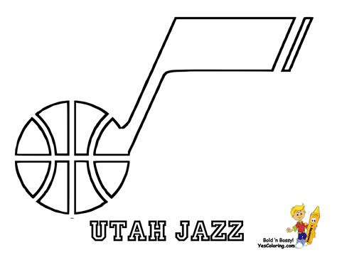 Jazz Basketball Coloring Pages | big bounce basketball printables nba basketball west