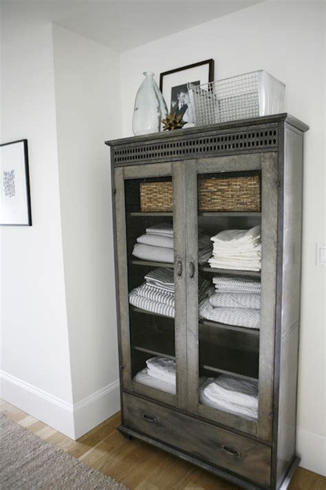 Linen Design Ideas Glass Door Linen Cabinet