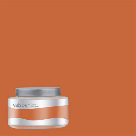shop valspar pantone burnt orange interior satin paint sle at lowes