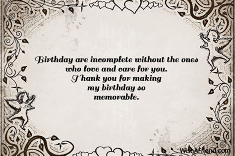 thank you letter to my on birthday thank you for the birthday wishes