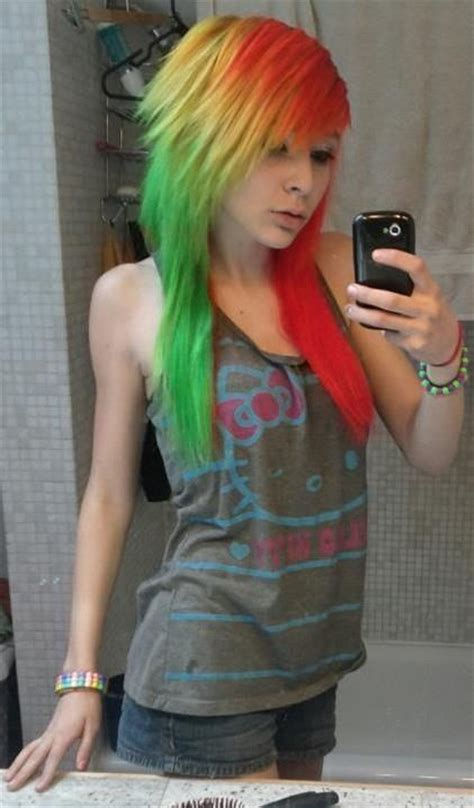 colors of marley hair red yellow green hair emo fashion hair pinterest
