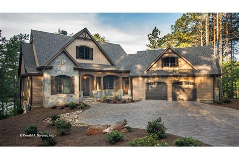 walkout rancher house plans craftsman style ranch with walkout basement hwbdo77120 craftsman from