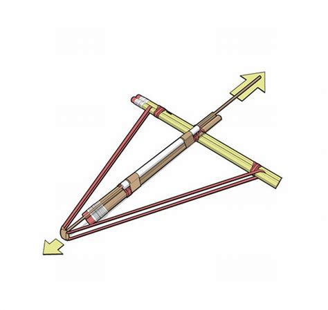 How To Make A Paper Cross Bow - how to build a pencil crossbow jinspiration the