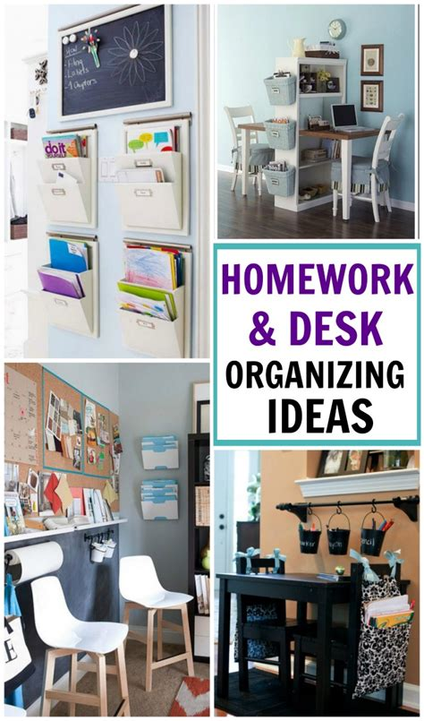 homework and desk organization ideas design dazzle