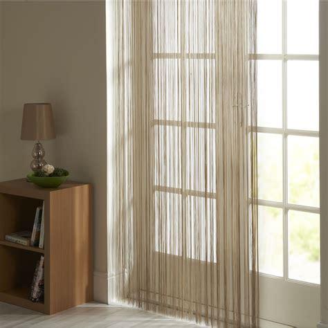 pull string drapes wilko string door curtain natural 90cmx200cm
