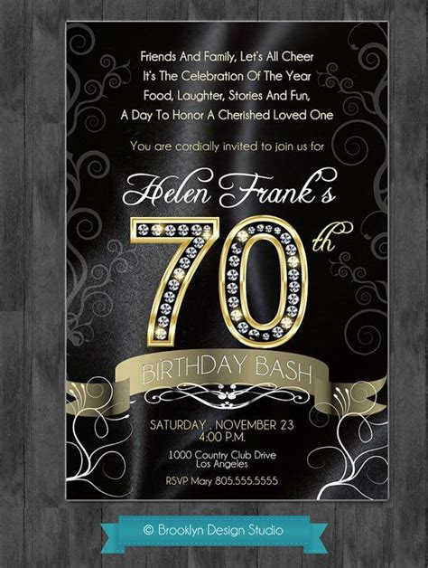 9 best images about mommy s 70th bash on pinterest 50 best 25 70th birthday invitations ideas on pinterest