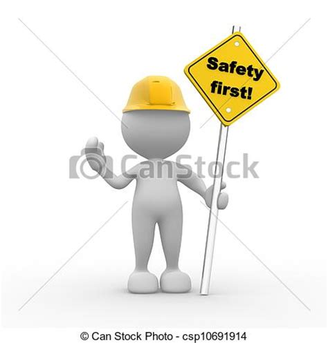 safety man clip art clipart of safety first 3d people man person with a