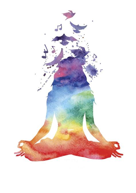 watercolor yoga tattoo 17 best ideas about meditation on zen