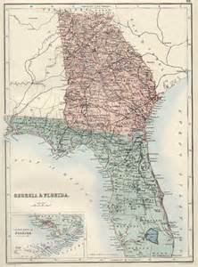 Florida Georgia Map by Georgia Amp Florida Barry Lawrence Ruderman Antique Maps Inc