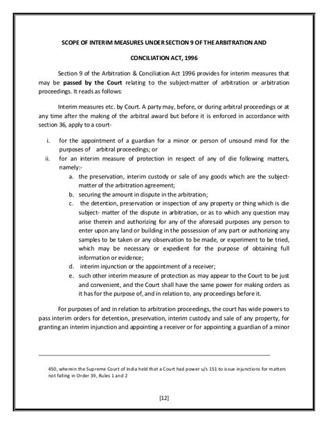 section 151 of code of civil procedure alternative dispute resolution interim measures