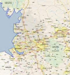 map of lancaster lancaster map and road maps of lancashire uk