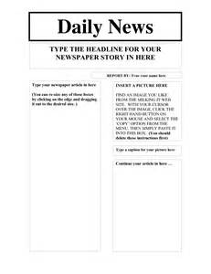 free printable newspaper template for students blank front page newspaper template