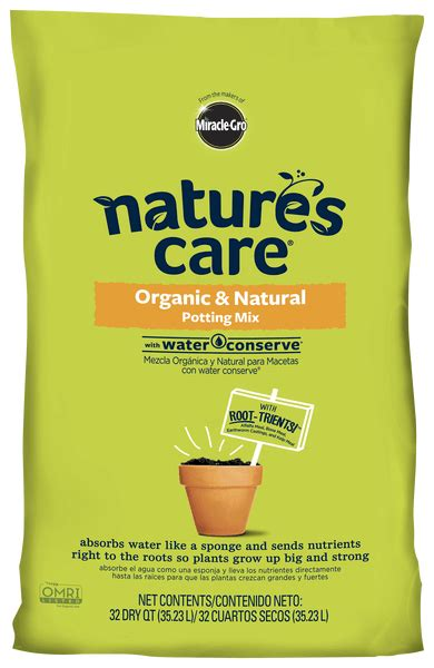 natures care organic potting mix  water conserve