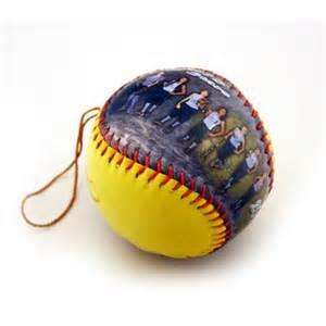personalized softball ornament softball christmas