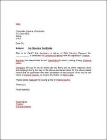 no objection letter format for employer best resume gallery