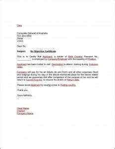 No Objection Certificate Model Letter No Objection Letter From Parents For Oci Weekend Hd