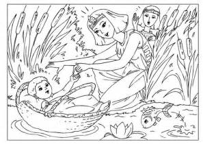 baby moses coloring page coloring page baby moses coloring