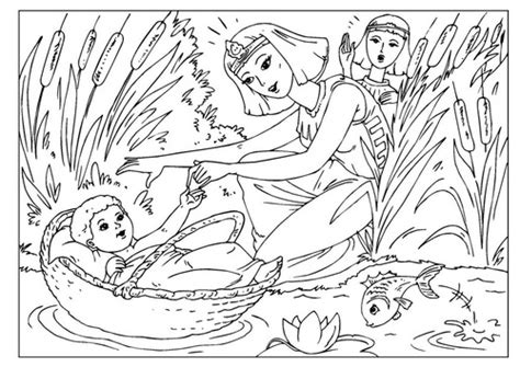 coloring page baby moses coloring pinterest