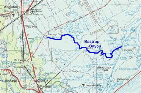 texas bayou map tpwd
