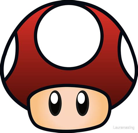 Mario Stickers For Walls quot super mario mushroom quot stickers by lauramazing redbubble