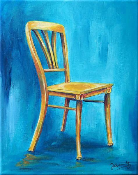 gelber stuhl jannys gelber stuhl modern painting stillleben