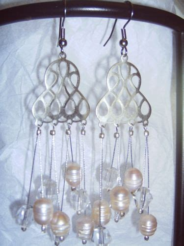 and pearl chandelier earrings pearl and chandelier earrings aridanfashions on