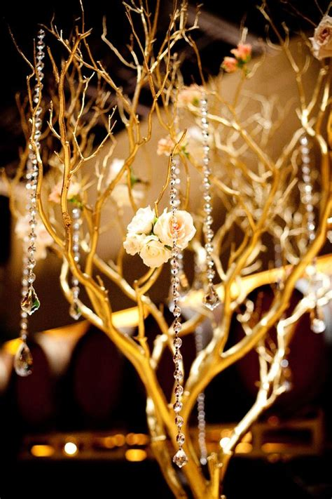 gold branch centerpieces 25 best ideas about tree branch centerpieces on