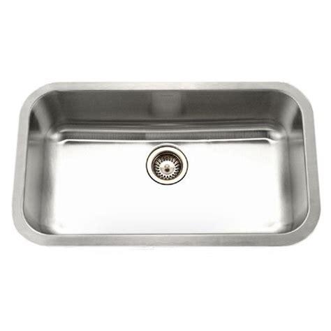 Houzer Kitchen Sink Houzer Eston Series Undermount Stainless Steel 31 5 In Single Bowl Kitchen Sink In Satin Pnl