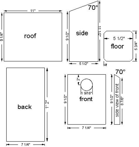 Bluebird Houses Plans Bluebird Nest Box Plans