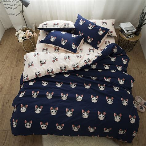 kawaii comforter cute cats kawaii bedding set king queen twin size kids