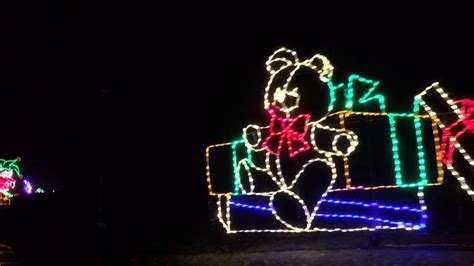 phalen park christmas light display drive thru experience