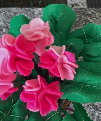 vaso di gerani vaso di gerani in feltro per la casa e per te decorare