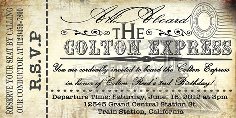 printable train tickets templates printable vintage train ticket invitations by