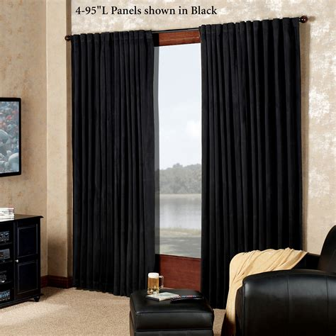 blackout curtains for home theater absolute zero eclipse home theater blackout curtain panels