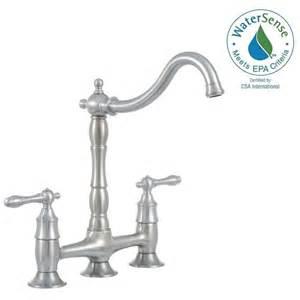 glacier bay lyndhurst 2 handle bridge side sprayer kitchen glacier bay invee pull down sprayer kitchen faucet in