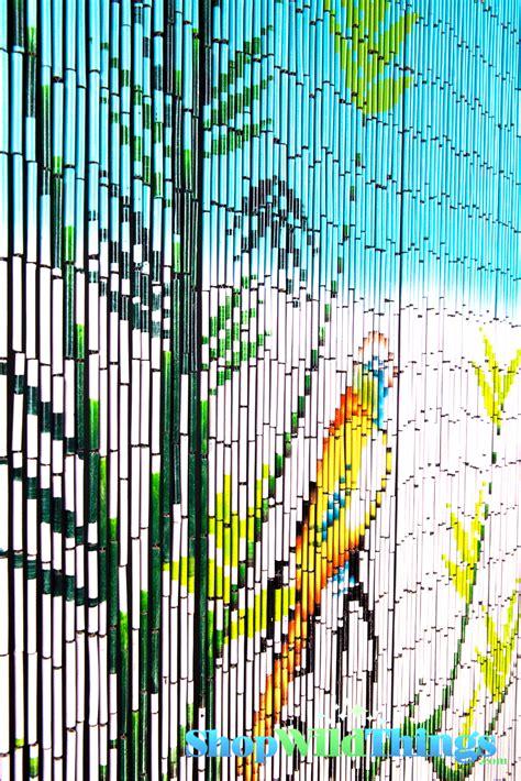 Painted Bamboo Curtains Bird On Bamboo Tree Painted Beaded Bamboo Curtain Hanging Bamboo Curtains Beaded