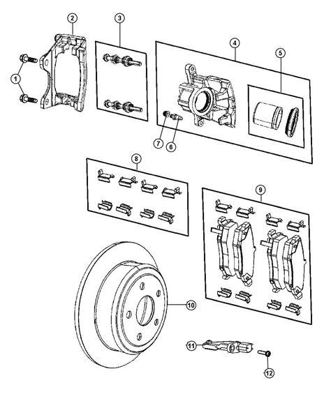 diagram of brake caliper assembly r8003774aa jeep caliper assembly left disc brake rear