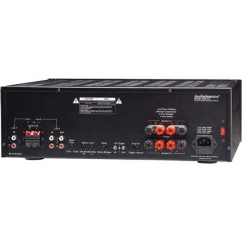 Power Lifier 150 Watt Audiosource Series 2 Channel 150 Watt Audio Distribution Power Lifier 310 The Home